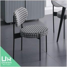 北歐工業風圖爾寬千鳥格餐椅(21X/492-3)