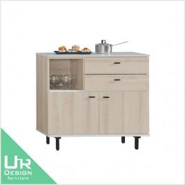 北歐工業風維爾拉3尺餐櫃(21JX/472-6)