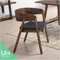 日式里斯實木布餐椅(21JX/493-2)