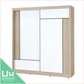 簡約北歐風維爾拉5X7尺衣櫃(附側拉鏡)(21JX/309-6)
