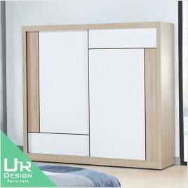 簡約北歐風維爾拉7X7尺衣櫃(附側拉鏡)(21JX/309-7)